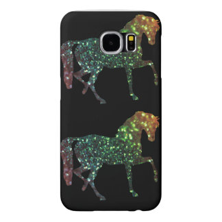 Samsung Galaxy S6, Barely There Glitter Horses Samsung Galaxy S6 Case