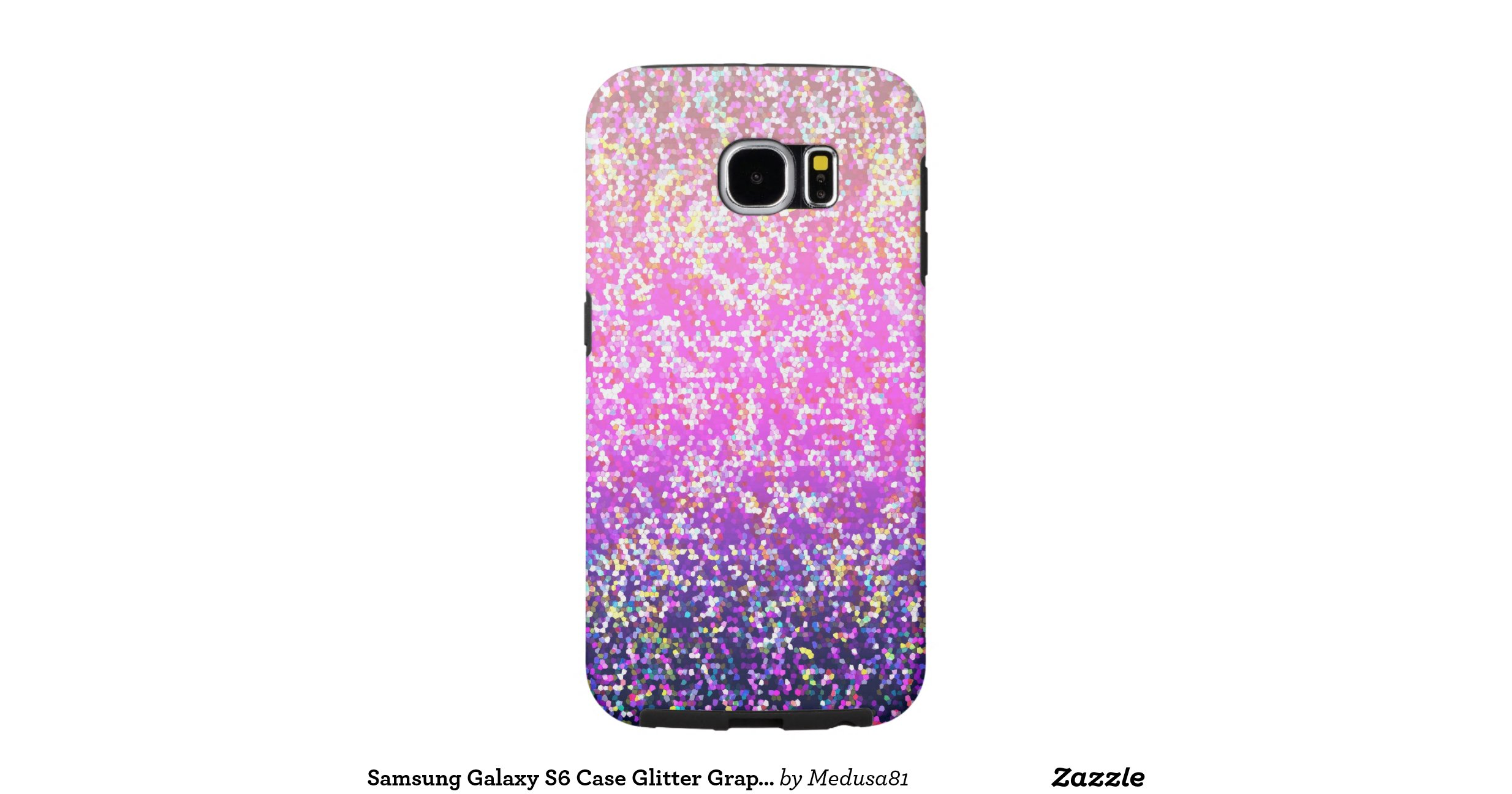 Samsung Galaxy S6 Case Glitter Graphic