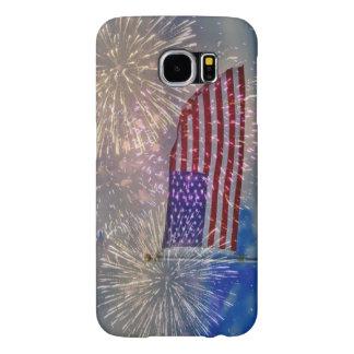 Samsung Galaxy S6 Case USA FLAG FIREWORKS