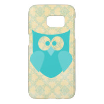 Samsung Galaxy S7, Barely There w/ Teal Owl Floral