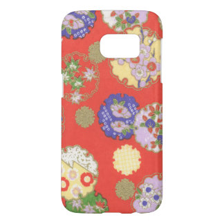 Samsung Galaxy S7 Japanese Floral Circles Case