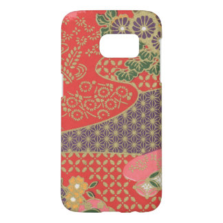 Samsung Galaxy S7 Japanese Floral Quilt Phone Case