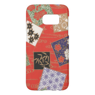 Samsung Galaxy S7 Japanese Squares Phone Case