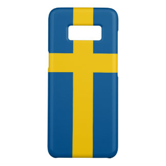 Samsung Galaxy S8 Case with flag of Sweden