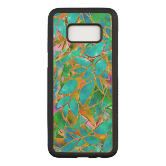 Samsung Galaxy S8 Wood Case Floral Stained Glass