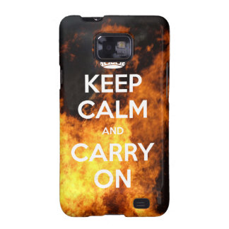 Samsung Galaxy S Keep Calm On Fire Galaxy S2 Cases