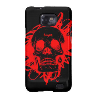 Samsung Galazy barely there - Glowing Red Skull Galaxy S2 Cases