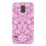 Samsung Pink Damask Pattern Galaxy S5 Covers