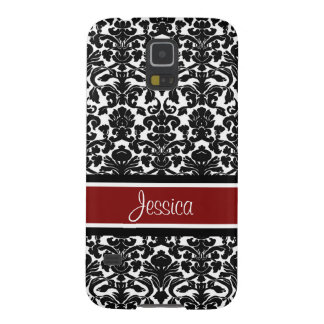 Samsung Red Damask Custom Name Galaxy S5 Cover
