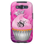 Samsung S3 Case Personalized Monogram Cupcake Galaxy S3 Cases