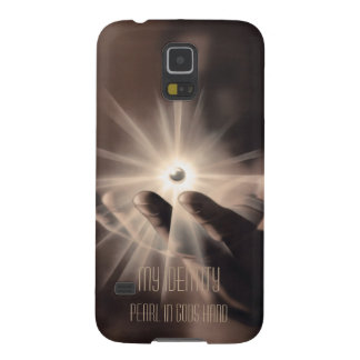 Samsung S5 covers: My Identity, Pearl in god hand Galaxy S5 Cover