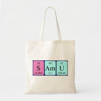 Samu periodic table name tote bag