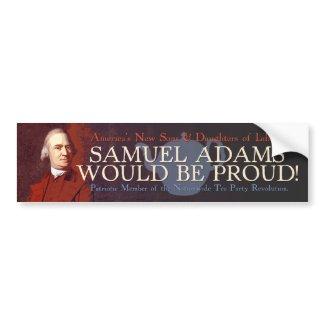 Samuel Adams bumper sticker bumpersticker