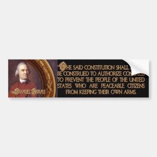Samuel Adams Citizens and Arms Car Bumper Sticker