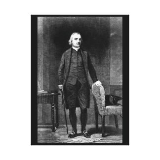 Samuel Adams.  Copy of engraving after_War Image Canvas Print