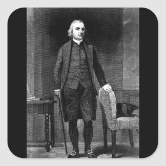 Samuel Adams.  Copy of engraving after_War Image Square Sticker