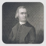 Samuel Adams, engraved by G.F. Storm (fl.c.1834) a Square Sticker