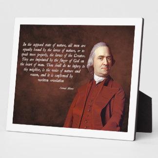 Samuel Adams God Display Plaques
