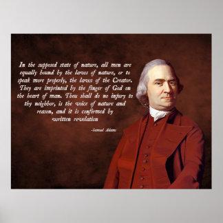 Samuel Adams God Poster