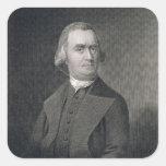 Samuel Adams, grabado por G.F. Storm (fl.c.1834) a Pegatina Cuadradas Personalizada