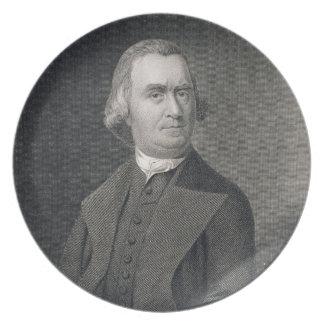 Samuel Adams, grabado por G.F. Storm (fl.c.1834) a Plato De Comida