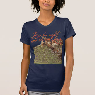 Samuel Adams:  If ye love wealth more than liberty T-Shirt