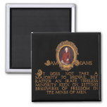 Samuel Adams, Irate and Tireless Guy 2 Inch Square Magnet