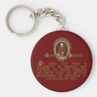 Samuel Adams, Irate and Tireless Guy Basic Round Button Keychain