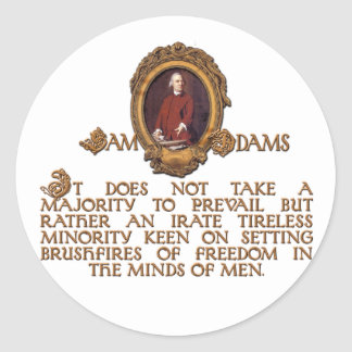 Samuel Adams, Irate and Tireless Guy Classic Round Sticker
