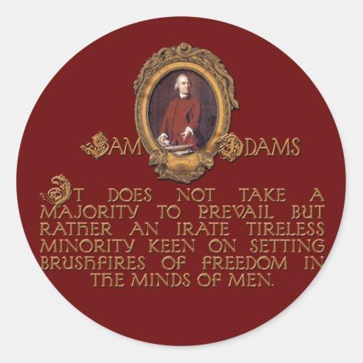 Samuel Adams, Irate and Tireless Guy Classic Round Sticker