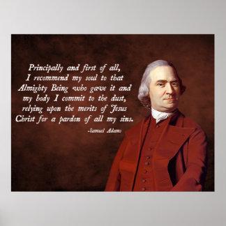 Samuel Adams Jesus Poster