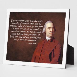 Samuel Adams Liberty Plaque