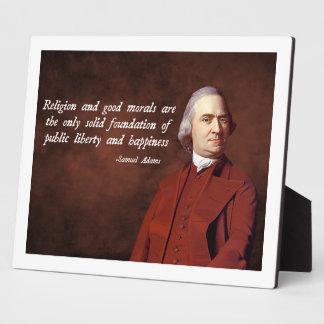Samuel Adams Morality Plaques
