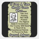 Samuel Adams: Patriotas experimentados Calcomanía Cuadradas Personalizada