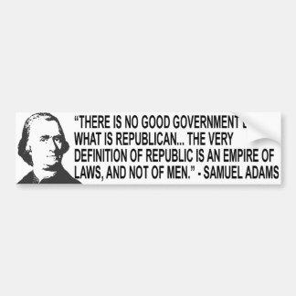 Samuel Adams Quote Bumper Sticker