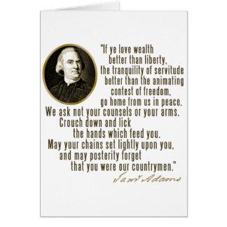 Samuel Adams Quote Card