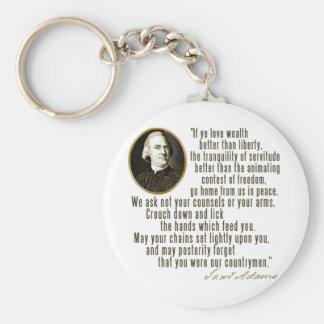 Samuel Adams Quote Keychain