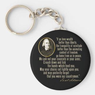 Samuel Adams Quote Keychains