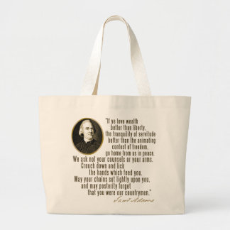 Samuel Adams Quote Large Tote Bag
