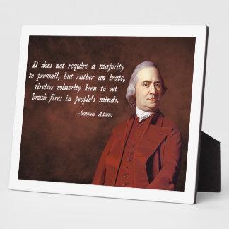 Samuel Adams Quote Plaque