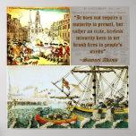 Samuel Adams - sublevación de Boston Poster