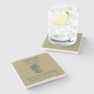 Samuel Ayer 40th Class Reunion Momento Stone Coaster