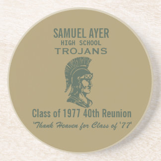 Samuel Ayer Class of '77 40th Reunion Memento Coaster
