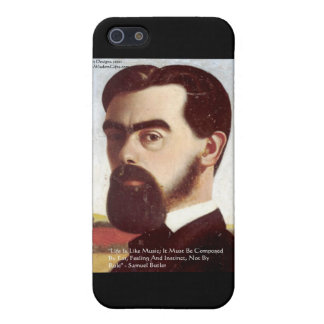 """Samuel Butler """"Life/Music"""" Wisdom Quote Gifts Case For iPhone SE/5/5s"""
