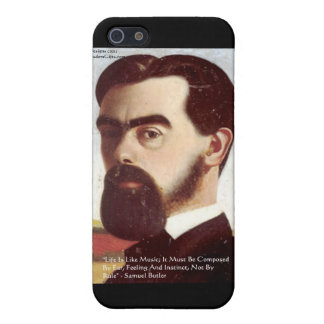 """Samuel Butler """"Life/Music"""" Wisdom Quote Gifts iPhone SE/5/5s Case"""