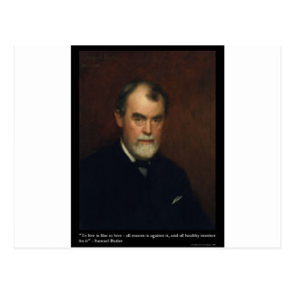 Samuel Butler Live/Love Quote Gifts Cards & Tees Postcard