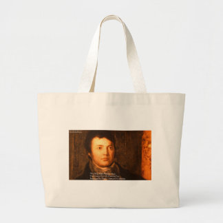 "Samuel Cooleridge ""Ideas"" Wisdom Quote Gifts Large Tote Bag"