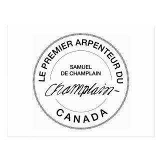 Samuel de Champlain Arpenteur du Canadá Tarjeta Postal