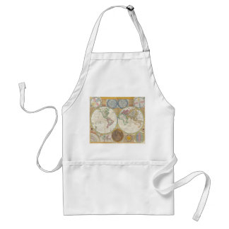 Samuel Dunn Wall Map of the World in Hemispheres Adult Apron