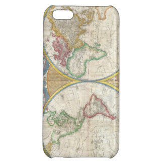 Samuel Dunn Wall Map of the World in Hemispheres iPhone 5C Cases
